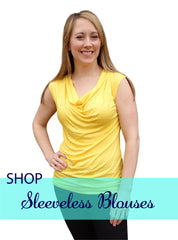 Sunshine Yellow-Designer Womens Classic Cowlneck Blouse