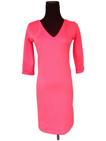 Hot Pink Shift Dress