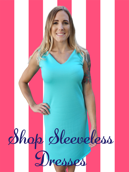 Aqua Dreams Sleeveless V Neck Dress