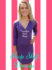 Lilac Purple Shift Dress