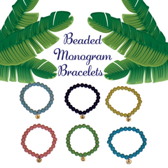 Monogram Island Leaves Beaded Statement Bracelet