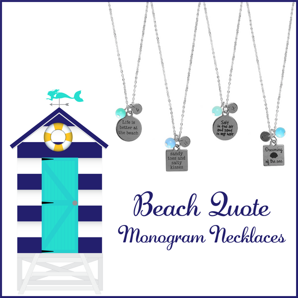 Beach Monogram Necklaces