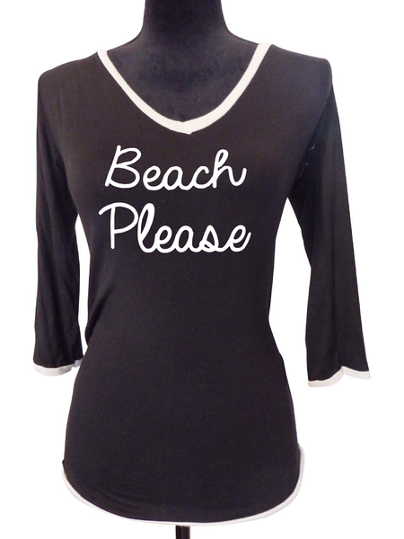Black V Neck Blouse