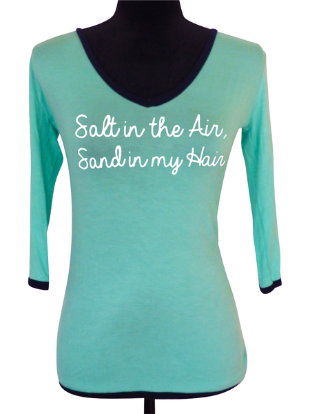 Aqua V Neck Blouse