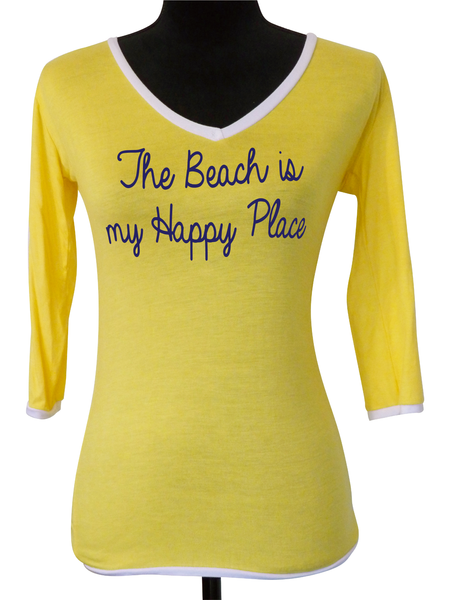 Yellow V Neck Blouse