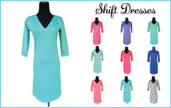 Beach Wedding Shift Dress-Choose Your Color and Quote