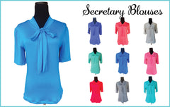 Royal Blue Secretary Top
