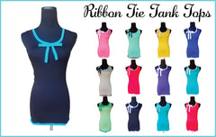 Turquoise Seas Ribbon Tie Tank Top