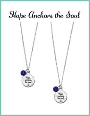 Hope Anchors the Soul Necklaces