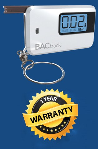Go Keychain Breathalyzer 30 Day Warranty
