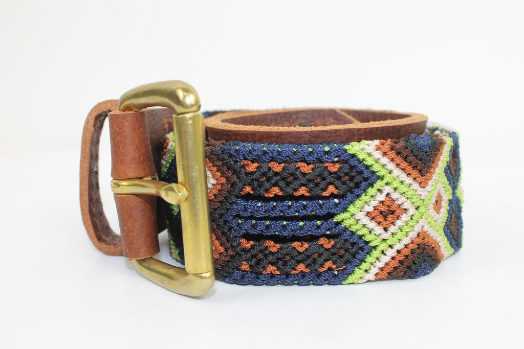 Handwoven Leather Seiba Belt