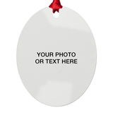 Custom with Your Photo or Text Metal Ornaments