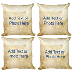Cactus Succulent Collection Plant Double Sided Custom Throw Pillow (Set of 4)
