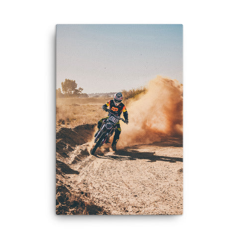 Motorcross Canvas Wraps