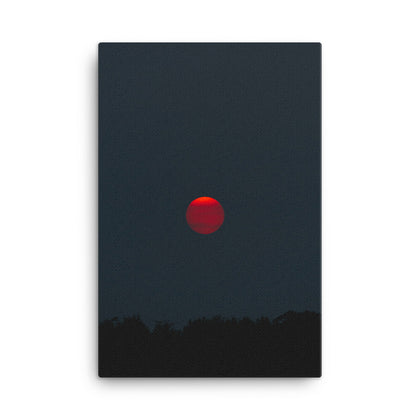 Red Moon Canvas Wraps