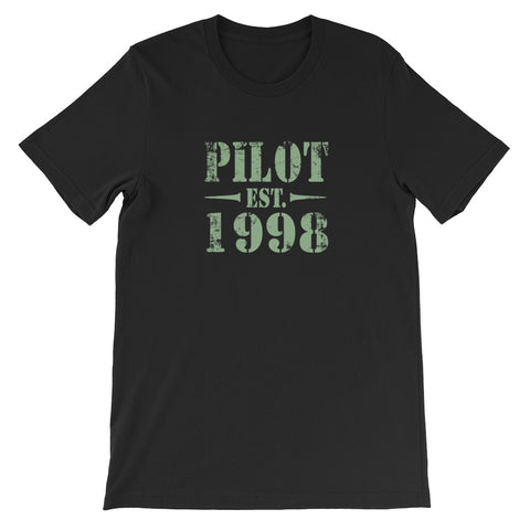 Pilot Est 2 Aviation Airplane T-Shirt