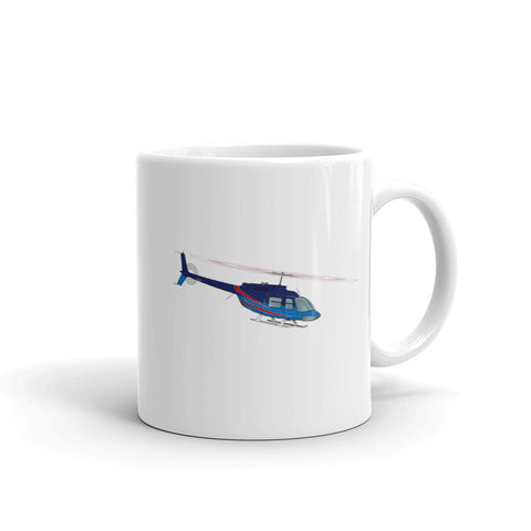 Helicopter Design (Blue/Red) Mug - HELI25C206-BR1