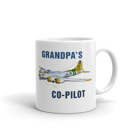 Grandpa's Co-Pilot Theme Mug - AIR2F5B17FF-SGY2