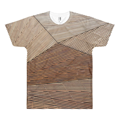 Wood Geometry All Over Print T-Shirt
