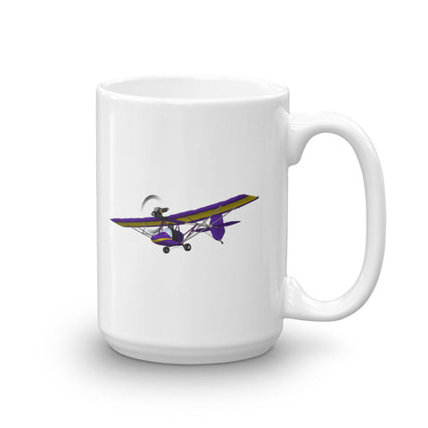 Ultra Light Airplane Mug (Yellow/Purple) - AIR8LI-YP1