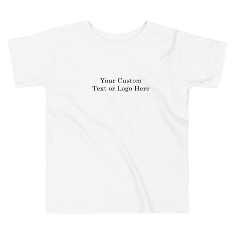 Custom Add Your Text Toddler Short Sleeve Tee