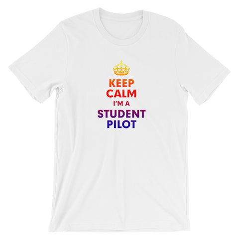 Keep Calm I'm A Student Pilot Airplane Aviation T-shirt