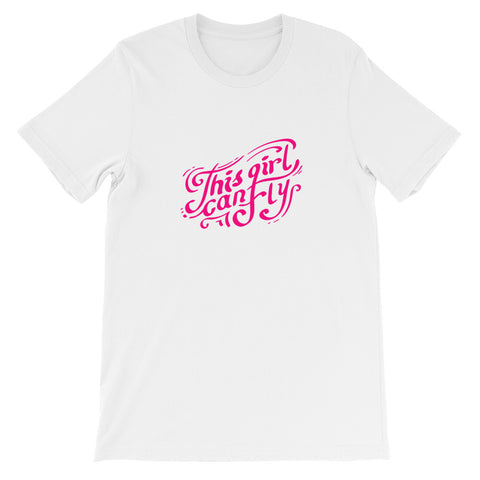 This Girl Can Fly Aviation Airplane T-Shirt