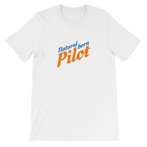Natural Born Pilot 2 Aviation Airplane Design T-Shirt