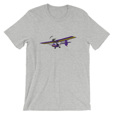 Ultra Light Airplane (Yellow/Purple) - AIR8LI-YP1 T-Shirt