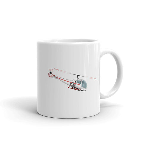Helicopter Design (Red) Mug - HELI25C47J-R1