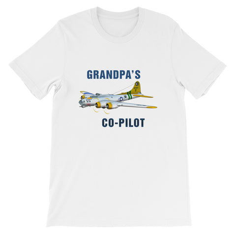 Grandpa's Co-Pilot Theme T-Shirt - AIR2F5B17FF-SGY2