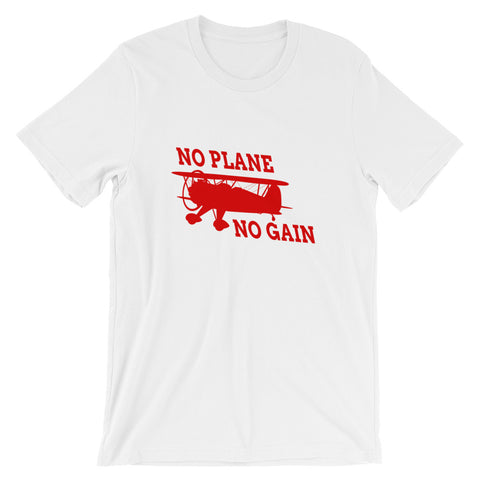 No Plane No Gain Airplane Aviation T-Shirt