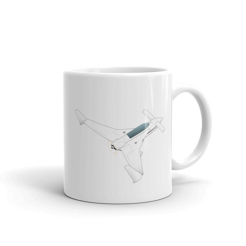 Airplane Design (Silver/Black) Mug - AIRILKCFE5Q-SB1
