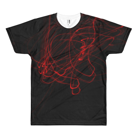The Neon Red Light All Over Print T-Shirt