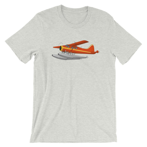 Airplane Design (Floats - Orange/Yellow) T-shirt - AIR458DHC2FL-OY1