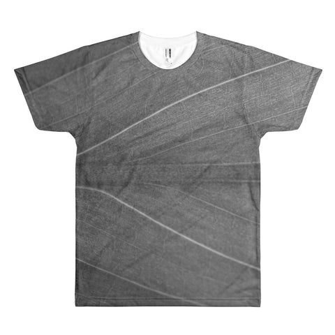 Monochrome Veins All Over Print T-Shirt