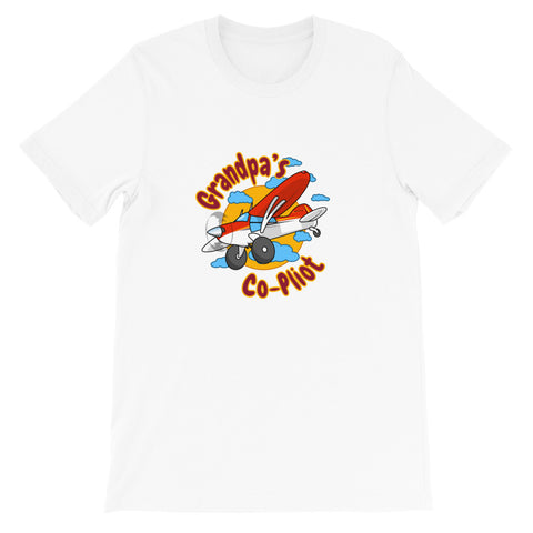 Grandpa's Co-Pilot Theme T-Shirt - KGPA-AIRD1LM5-RBY1