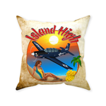 Island High Pinup Throw Pillow Case Stuffed & Sewn - AIR255D5ET34C-B1