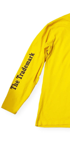 100% Cotton Yellow Long Sleeve shirt, With Swish The Trademark print on right sleeve, and Swish logo on mid chest.