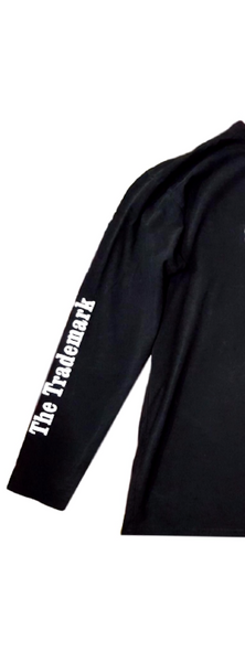 100% Cotton Black Long Sleeve shirt, With Swish The Trademark print on right sleeve, and Swish logo on mid chest.