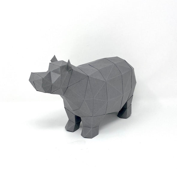 North American House Hippo Kit - Low Poly Crafts