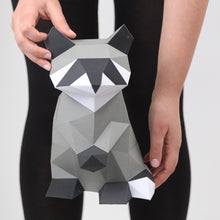 Load image into Gallery viewer, Raccoon Kit - Low Poly Crafts