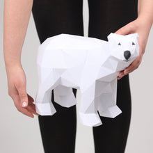 Load image into Gallery viewer, Bear Polar Mini - Low Poly Crafts