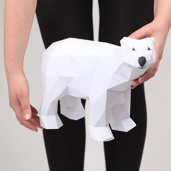 Bear Polar Mini - Low Poly Crafts