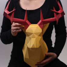 Load image into Gallery viewer, Deer Kit HEADS - Low Poly Crafts