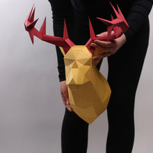 Load image into Gallery viewer, Deer Kit ANTLERS - Low Poly Crafts