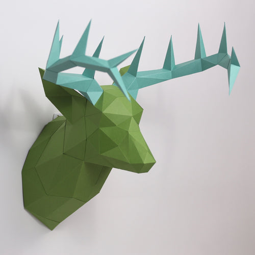 Deer Kit HEADS - Low Poly Crafts