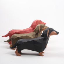 Load image into Gallery viewer, Dachshund Kit - Low Poly Crafts