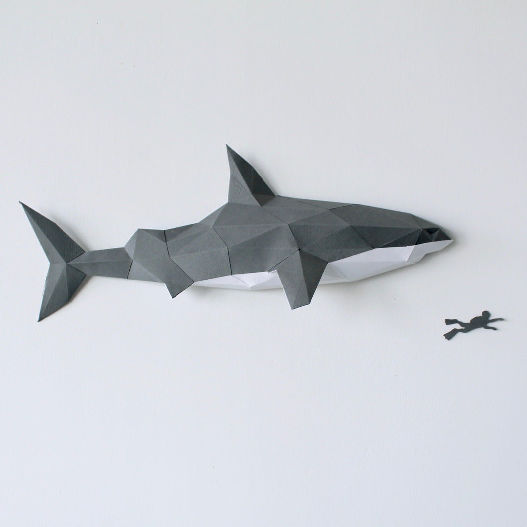 Great White Shark Kit - Low Poly Crafts