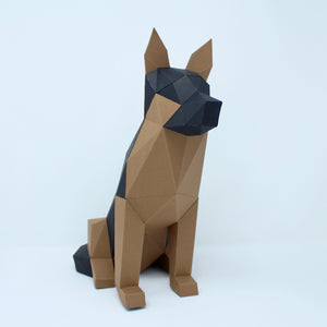 German Shepard - Low Poly Crafts